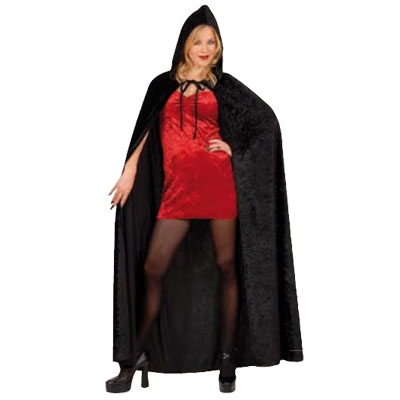 Black Hooded Cape 150 cm