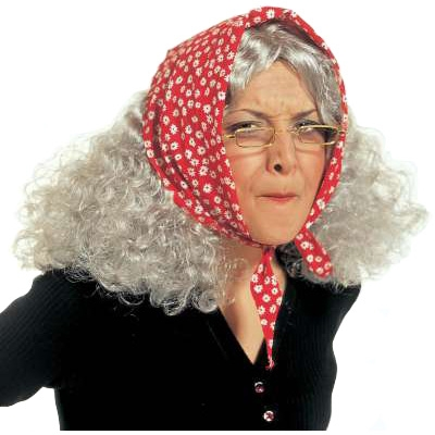 Granny witch wig
