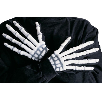 3D Skeleton white gloves