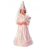 Costume fairy with hood - pink