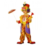 Clown Jumpsuit, coat, bow-tie, hat