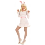 Bunny Costume dress, belt, collar with bow-tie, ears