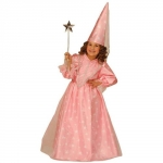 Costume Fairy - pink dress, hood