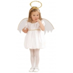 Little angel dress, wings, halo