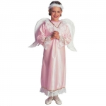 Costume angel - pink Dress, wings, gloriole