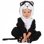 Cat costume jumpsuite with headpeace