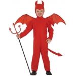 Devil costume jumpsuit, headpeace, wings