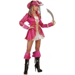 Pirates Captain Lady Dress, coat, boot cuffs, hat