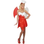 Heaven and Hell Costume Dress, wings, horns, halo