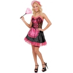 Sexy French Maid - pink Dress, headpiece, choker, garter