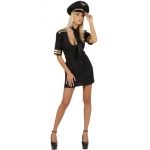 Sexy Pilot Costume Dress, neck sash, hat