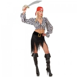 Pirate Costume shirt, skirt withbelt and buckle, bandana