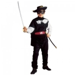 Costume Bandit Coat, Pants, Belt, Eyemask
