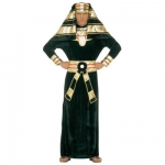 Pharaoh costume Velvet robe with collar, belt and headpiece