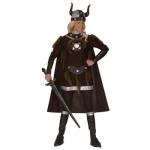 Viking Victoria Costume Dress, belt, helmet, boot covers, cape