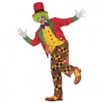 Costume Clown XL Frac, Waistcoat, Bow tie, Trousers, Hat