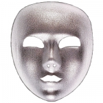 Silver full face fabric mask