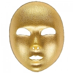 Gold full face fabric mask