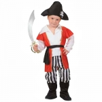 Pirate dress Shirt with coat, belt, pants with boot covers, hat