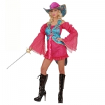 Profi costume Madame Musketeer Dress, corset, tailcoat, hat