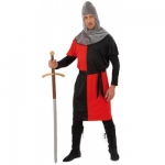 Medieval Warrior costume size L coat, belt, hat. Size L