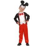 Mouse boy costume Jacket with vest and bow-tie, pants and headpiece.