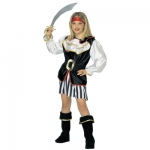 Pirate girl Coat with jabot, skirt, belt, boot covers, headband