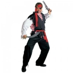 Pirate Man Sea Robber XL Shirt, over-shirt, pants, waist sash and headband