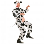 Funny cow XL Jumpsuit with nipples, headpiece with homs