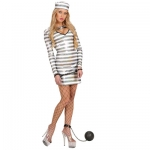 Bad Girl prisoner costume Dress, hat