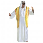 Sheik dress Robe with vest and headscarf