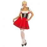 Heidi Dress XL Plus size fuller figured fairytale book character Austrian bavarian style Heidi costume, includes a black red and white dress with an attached apron. One XL size