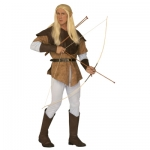Archer-Elf Costume XL Shirt, suede look over coat, trousers, belt, boot covers