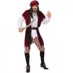 Caribbean Pirate Costume Shirt, vest, pants, belt, bandana