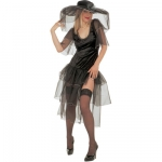 Spicy Widow Costume Velvet dress with veils, hat with veils