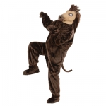 Plush Horse Costume Jumpsuit, gloves, shoe covers, mask