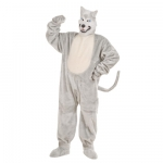 Plush Wolf Costume Jumpsuit, gloves, shoe covers, mask