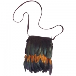 Feathered Native Indian Handbag