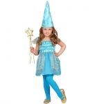 Beauty Blue Fairy Dress, Hat