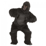 Plush Gorilla Jumpsuite, mask, hands, legs