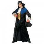 Gothic Vampire Costume Velvet cape with stand up collar, waistcoat with jabot
