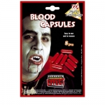 Blood Capsules Nothing triggers the fear response like the sight of blood! If you want to raise the scare factor of your Halloween Costume while keeping your skin unblemished, then you need the liquid Blood Capsules.