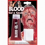 Blood gel Great for various fancy dress outfits. Dries in contact with the air and coagulates like real blood. Apply to your face or other parts of your body to simulate wounds, cuts, bites etc. Simply remove with warm water and soap. Scare your friends!!