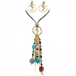 Egyptian Cleopatra Necklace and Earrings Set