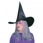 Sorceress hat with gray hair