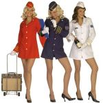 Stewardess Dress, hat. Blue color