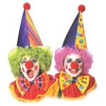 Clown set Hood, nose and bow tie. 2 colors