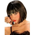 Cool styled wig with gold or silver gilding