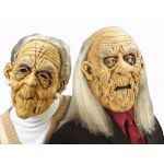 Mask of old man and woman 2 models