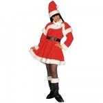 Costume Miss Santa Deluxe Dress, belt, capelet, hat, boot covers. Very good quality